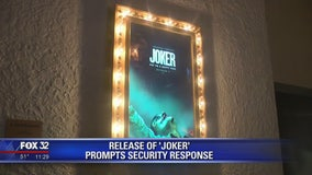 Release of 'Joker' movie prompts security response in Chicago, across country