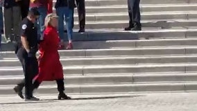 Jane Fonda arrested in Washington, DC at climate change rally
