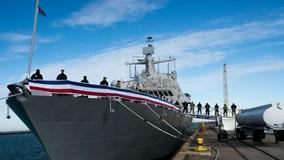 Navy commissions new USS Indianapolis at Burns Harbor along Lake Michigan