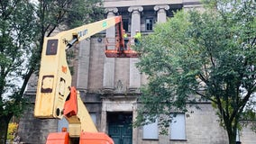 Demolition of Aurora Masonic Temple begins