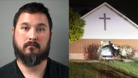 Drunken driver crashes through wall of Crystal Lake church: police
