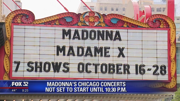 Madonna's Chicago concert not set to start until 10:30 p.m.