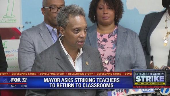CTU rebuffs mayor's request to end teachers' strike, classes canceled again Tuesday