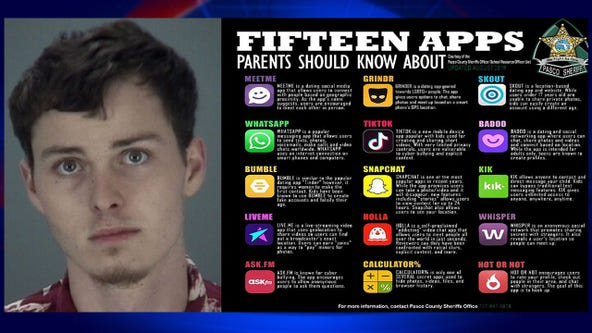 Pasco sheriff warns about 15 apps following arrest of man accused of raping 10-year-old girl