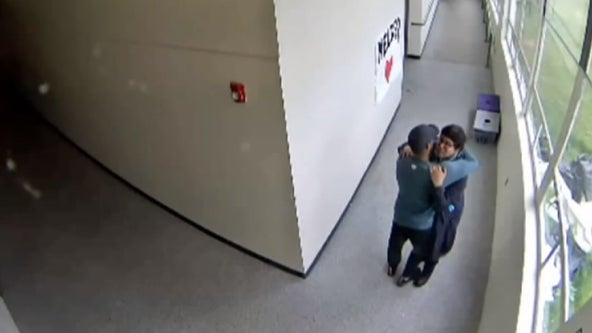 Video released of moment Oregon high school football coach disarms and hugs student carrying loaded shotgun