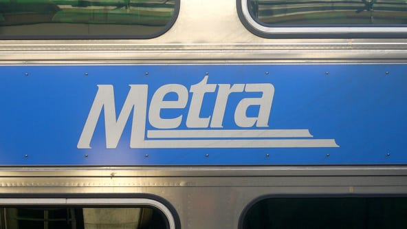 Metra North Central Service not passing Wheeling after train strikes parked car
