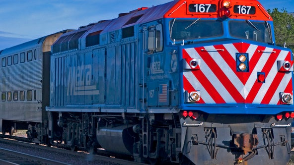 Chicago police officer hurt when patrol car struck by Metra train