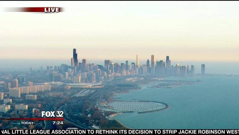 chicago-skyline-lake-michigan-pretty