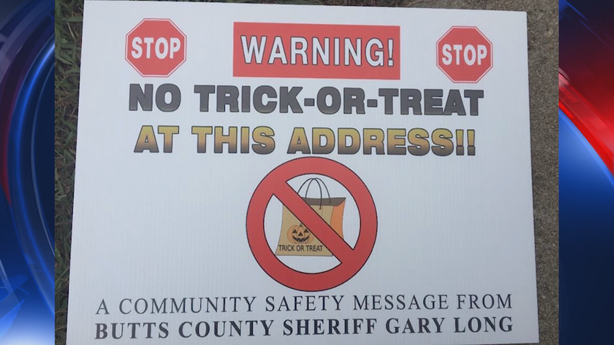 Sex offenders suing Butt County Sheriff over 'No Trick-or-Treat' signs