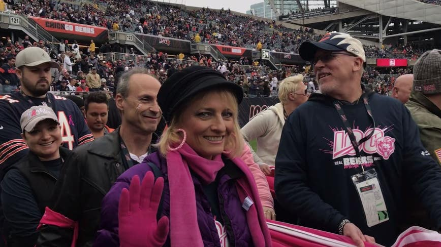 Bears honor breast cancer survivors and families at Soldier Field