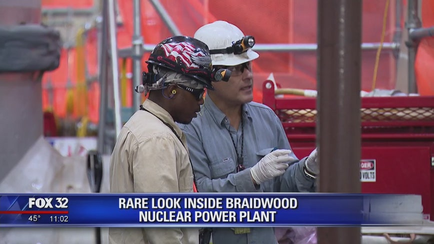 Rare look inside Braidwood nuclear power plant