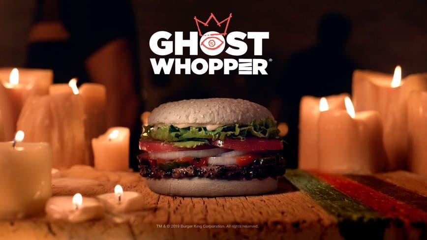 Burger King debuts 'Ghost Whopper' that has white buns infused with cheddar cheese