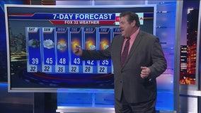 10 p.m. forecast for Chicagoland on Nov. 1st