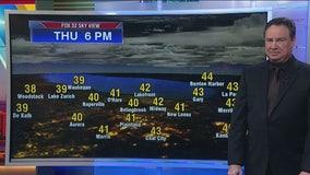 3:30 a.m. forecast for Chicagoland on Nov. 21st