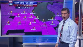 9 p.m. forecast for Chicagoland on Nov. 11