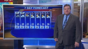 7 a.m. forecast for Chicagoland on November 2nd