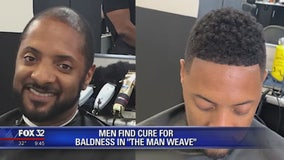 Men find cure for baldness with the 'man weave'