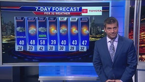 10 p.m. forecast for Chicagoland on Nov. 18