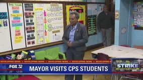 Mayor Lightfoot visits CPS students on first day back following strike