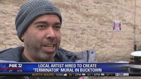 Local artist hired to create 'Terminator' mural in Bucktown