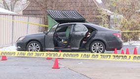Vehicle sprayed with more than a dozen bullets, child in back seat miraculously not hit
