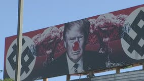 Red nose seen on Trump billboard in downtown Phoenix