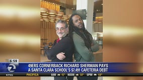 49ers Richard Sherman pays off students' lunch debt at Santa Clara middle school