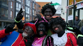 Anti-racism groups protest 'Black Pete' Christmas tradition in the Netherlands