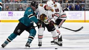 Marleau's goal helps Sharks beat Blackhawks 4-2 to snap skid