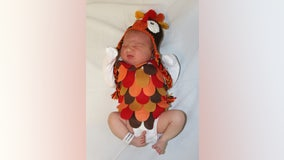 Adorable newborns dress up as Thanksgiving meal at The Woman's Hospital of Texas