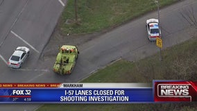 Northbound I-57 lanes shut down for shooting investigation