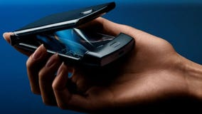 Motorola releases the popular Razr flip-phone with a foldable touch screen