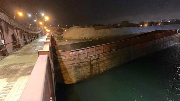 Wind blows barge into Far South Side bridge, closing it for weeks of repairs
