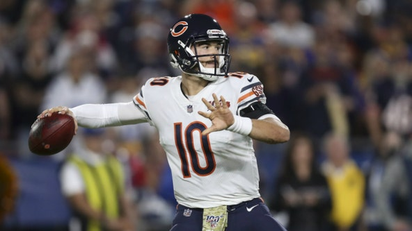 Bears' Nagy says Trubisky lifted because of hip pain