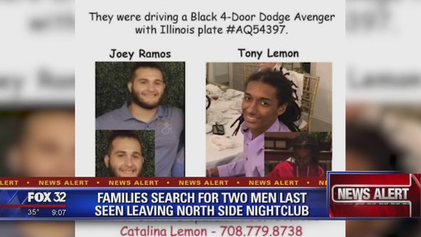Families searching for 2 missing men last seen leaving Chicago nightclub