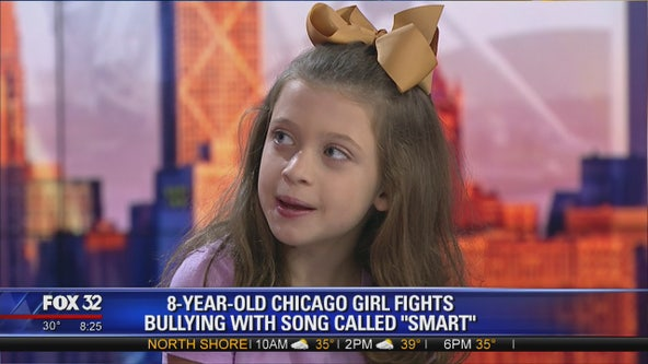 8-year-old Chicago girl discusses viral anti-bullying song