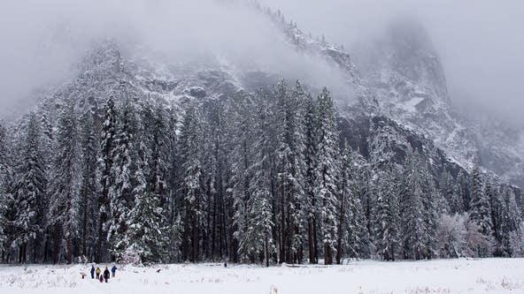 Winter wonderland: Yosemite National Park blanketed in snow