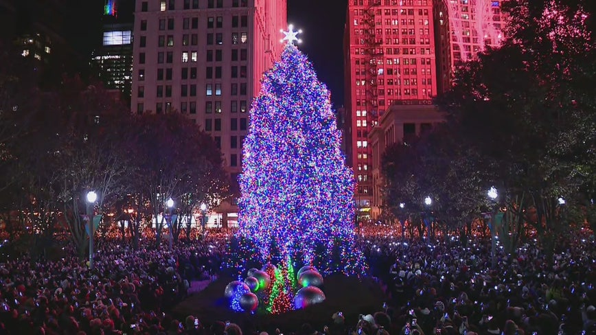 Chicago's Christmas tree is officially lit for the holiday season