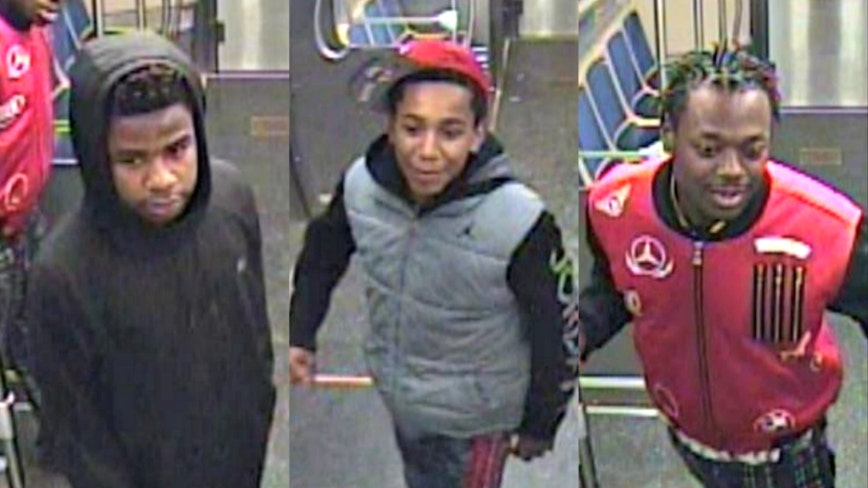 Images released of suspects wanted for damaging windows on Pink Line