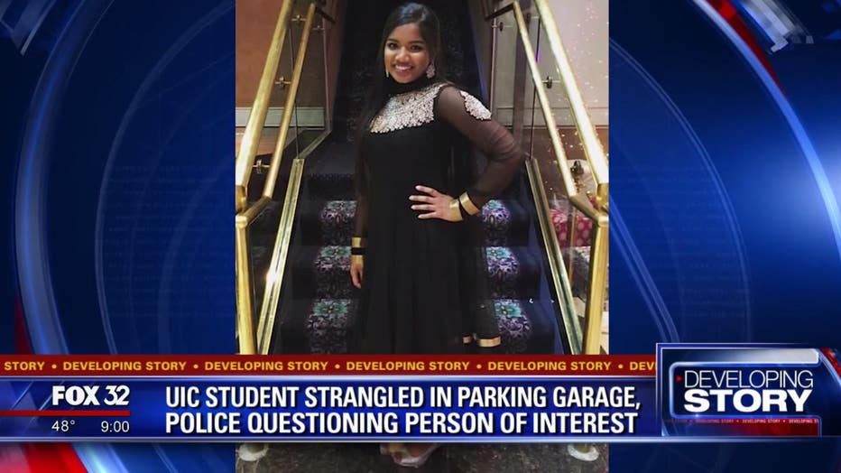 University of Illinois Chicago student Ruth George was found murdered in a campus garage on Saturday.