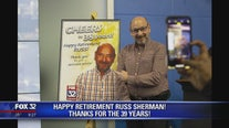 """I'm Outta Here!"" Fox 32 legend Russ Sherman retires"