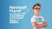 9-year-old asks Trump to go vegan for a month in exchange for $1 million donation to veterans
