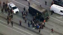 Chase with stolen UPS truck ends with shootout, 4 dead in South Florida