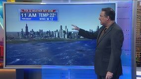 Early morning forecast for Chicagoland on Dec. 10th