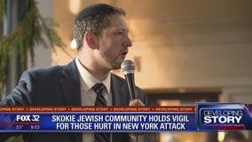 Skokie Jewish community holds vigil for those hurt in New York attack