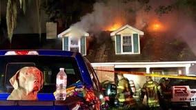 Sammy the dog barks alarm, saving Georgia family from fire inside home
