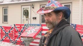 Iowa homeowner says swastikas, Confederate flags are not racist