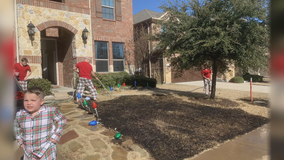 After getting magnifying glass for Christmas, McKinney boy catches his front yard on fire