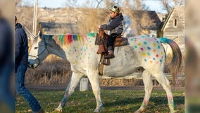 5-year-old boy diagnosed with brain cancer rides off to treatment on a magical 'unicorn'