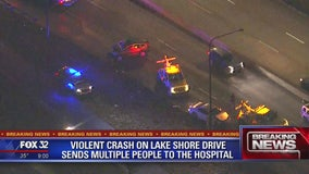 3 children among 5 injured in Lake Shore Drive crash on South Side